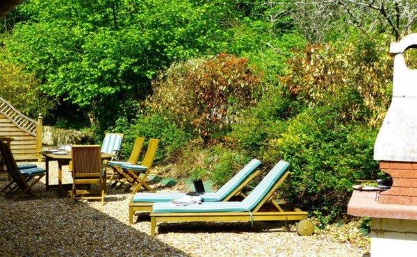 Jardin location de vacances Chambord
